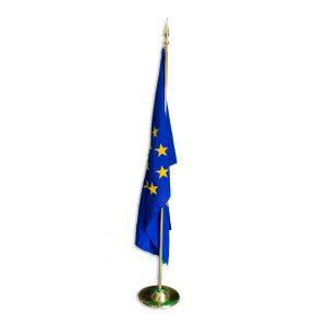 Стойка за знамена - единична, месинг